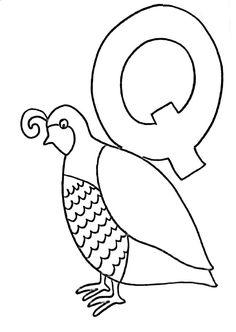 Letter Q Crafts, Abc Crafts, Bird Crafts, Preschool Crafts, Preschool Curriculum Free, Preschool Letters, Kindergarten Readiness, Homeschool, Toddler Art Projects
