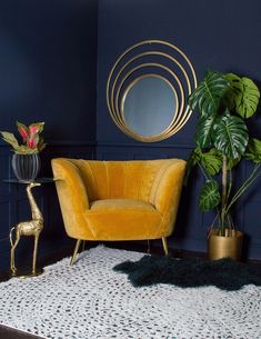 How To Care For Velvet Furniture. Eclectic living room with gorgeous velvet armchair. We've put together a selection of tips on how to care for velvet furniture that will keep it looking its best for years to come. Decor, Eclectic Living Room, Interior, Velvet Furniture, Home Decor Trends, House Interior, Trending Decor, Living Decor, Living Room Designs