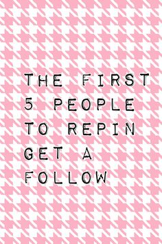 I follow everyone who follows me!!! :D Comment below when done