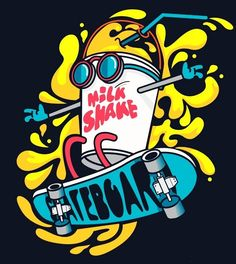 Find Cool Milkshake Skater Vector Design stock images in HD and millions of other royalty-free stock photos, illustrations and vectors in the Shutterstock collection. Graffiti Art, Wie Zeichnet Man Graffiti, Graffiti Doodles, Graffiti Drawing, Art And Illustration, Vector Illustrations, Cartoon Kunst, Cartoon Art, Doodle Art Drawing