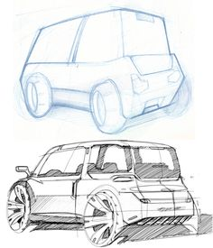 Good car sketching is a matter of training.