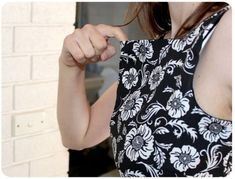 Pattern Alterations: How to remove gaping (or excess fabric) from neckline of a fitted dress from Bernie & I