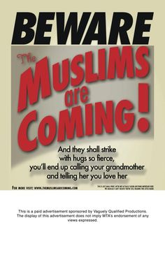 """Muslim comedians, Negin Farsad and Dean Obeidallah, suing MTA over rejected film promotions for their film """"Beware The Muslims are Coming!"""""""