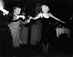 Truman Capote and Marilyn Monroe on the dance floor