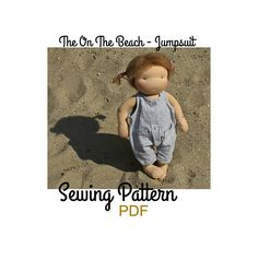 This listing is for the PDF pattern only! Not for a paper pattern, not for the finished dress and not for the doll or accessories in the photos. The patterns I publish, are my favourite patterns! I use them for my dolls, for years, already. The On the beach jumpsuit - A simple playsuit, worn as is, in the summer or with a T-shirt and sweater on colder days. PDF Sewing pattern, for 15/16 inch (39-42 cm) tall dolls, by MonPilou© The pattern will be available to download, once the payment...