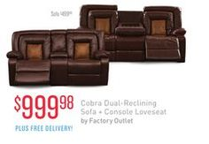Cobra Dual Reclining Sofa Console Loveseat By Factory Outlet From Value City Furniture 99998