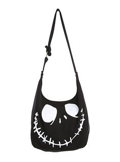 The Nightmare Before Christmas Jack Face Hobo Bag | Hot Topic