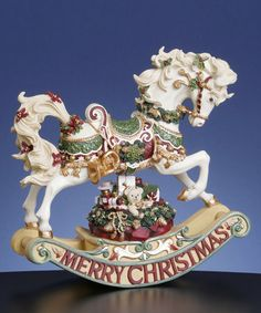 This Christmas Rhapsody Rocking Horse Musical Figurine is perfect! #zulilyfinds