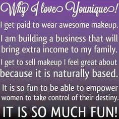 This is why I love Younique!! It's so fun and easy! Anyone can do it!  youniqueproducts.com/LFragassi