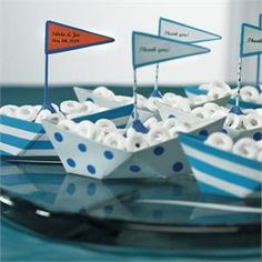Metal Sailboat Candy Holder, Party Decoration, Nautical Wedding Theme