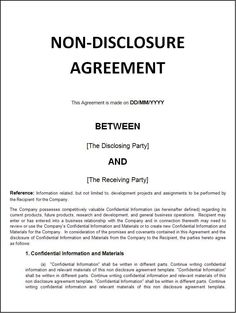 Printable Sample Non Disclosure Agreement Sample Form Real Estate - Real estate non disclosure agreement template