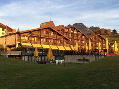 Aterrizando: Hotel Cailler, en Charmey, Suiza