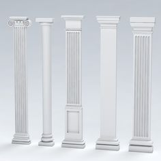 Columns Decor, Interior Columns, Door Gate Design, Wooden Door Design, Classic House Design, House Front Design, Cornice Design, Compound Wall Design, Pillar Design