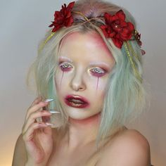 Dark fairy liquid lipstick in Enchanted rose from @fantasyallure  Other products are @litcosmetics glitter in champagne wishes and liquid metals (use KIMBERLEY20 for 20% off) @limecrimemakeup Venus 2 palette. @anastasiabeverlyhills moon child glow kit ✨ Sending love to you wonderful people!