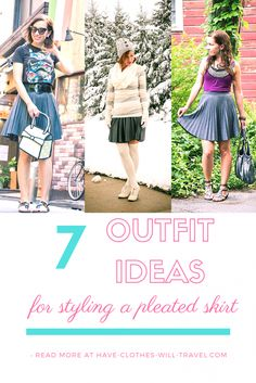 Style Remix: Pleated Skirt Styled 3 Ways. Featuring plus