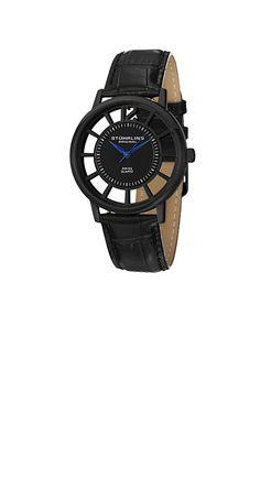STUHRLING ORIGINAL 388S.33551 (ブラック)  純粋にかっこいいデザインです。スイス製クウォーツをムーブメントに使用。 リーズナブルで、デザインが凝っている時計。
