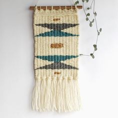Weaving Geometric Wall Hanging Fiber Art Home Decor Weaving Wall Hanging, Hanging Wall Art, Weaving Designs, Geometric Wall, Tapestry Weaving, Cute Gifts, Boho Decor, Fiber Art, Hand Weaving