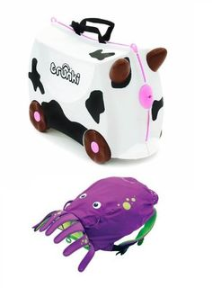 Trunki Frieda Cow & Trunki Paddlepak Backpack Inky the Octopus (Dispatched from UK)  #Trunki #Toy