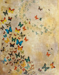 butterfly painting, butterflies painting