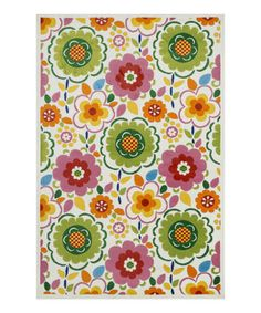 This Floral Juniper Area Rug by Loloi Rugs is perfect! #zulilyfinds