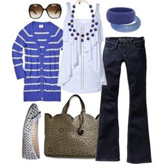 the blues by htotheb on Polyvore featuring Mossimo, Old Navy, Zalando, Forever 21, Miu Miu, Gucci, horizontal stripes, blue and brown