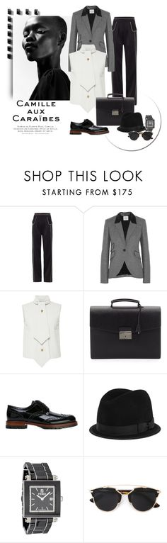 """""""Masculine Lovely"""" by michelletheaflack ❤ liked on Polyvore featuring Theo, Derek Lam, Tod's, J.W. Anderson, Prada, Dolce&Gabbana, rag & bone, Fendi, Christian Dior and women's clothing"""