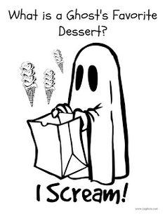 Halloween Joke Coloring Page: Ghost Joke