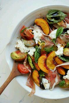 Peach and prosciutto salad!