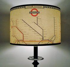 Mind The Gap London underground map lamp shade, the TUBE