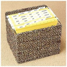Pretty File Basket for Home Office