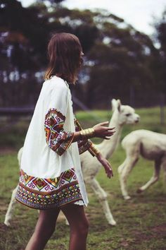 running with llamas - beautiful cuff