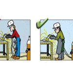 Yanlış ve Doğruları ile İnşaatta İş Güvenliği | İnşaat Gündemi Safety Cartoon, Safety First, Atvs, Baseball Cards, Signs, Poster, Shop Signs, Billboard, Sign