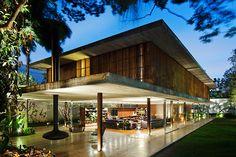 Visually stunning modern home design in Brazil: Toblerone House
