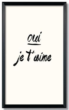 Oui je t'aime downloadable 17x11 inch wall art by RelaxEventStudio