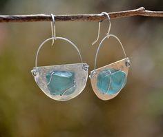 Half Moon Silver Earrings.Roman Glass Earrings.Crescent Earrings.Roman Glass Jewelry.Silver Jewelry.Israeli Jewelry.Free Shipping https://www.etsy.com/il-en/listing/243468757/half-moon-silver-earringsroman-glass?ref=shop_home_active_10