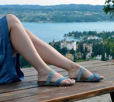 Pneu sandali  donna vegani - jeans e tessuto di re di Artefizio su DaWanda.com