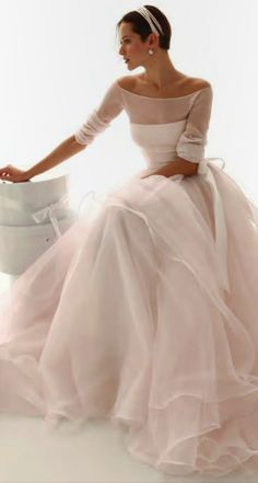 Off Shoulder Long Sleeves Ball Gown Organza Wedding Gown Wedding dress, bridal dress Beautiful Gowns, Beautiful Outfits, Wedding Designs, Wedding Styles, Bridal Dresses, Wedding Gowns, Lace Wedding, Bridal Fashion Week, Dream Dress