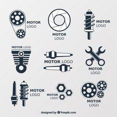 Logos for car repair shops Free Vector