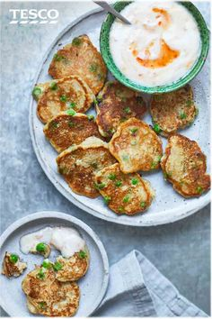 For a healthy snack, try this mini pea pancakes recipe. Made from wholewheat flour and frozen peas, they're quick and easy to whip up and just the right size for snacking on. | Tesco