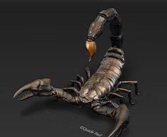 A printed sculpture by Quade Paul Scorpion, 3d Modeling Programs, Traditional Sculptures, 3d Prints, Weird Creatures, Cinema 4d, Zbrush, 3d Design, Sculpture Art