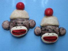 Sock Monkey fridge magnets :)