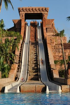 The Mayan Temple at Atlantis Aquaventure is just one of 8 waterslides to choose from.