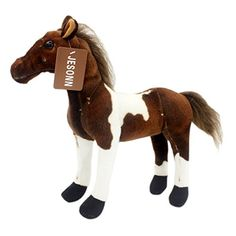 ea504239095 JESONN Realistic Stuffed Plush Zebra Animals Horse Toys for Children s  Birthday Gifts 30 CM. Click visit to buy