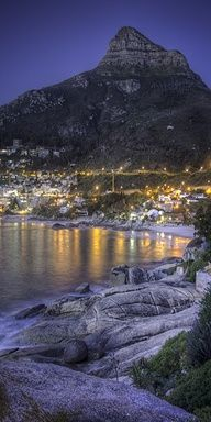 Evening in Cape Town - South Africa. Cape Town is the second-most populated city in South Africa after Johannesburg, and the provincial capital and primate city of the Western Cape. As the seat of the National Parliament, it is also the legislative capita Places To Travel, Places To See, Places Around The World, Around The Worlds, Wonderful Places, Beautiful Places, Clifton Beach, Le Cap, Cape Town South Africa