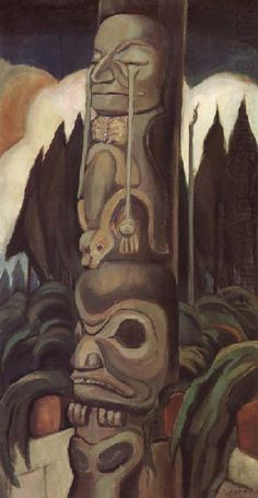 Vancouver Art Gallery - Emily Carr - The Crying Totem Tom Thomson, Canadian Painters, Canadian Artists, American Artists, Emily Carr Paintings, Native American Totem, Vancouver Art Gallery, Jackson, Exhibition