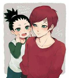 Happy Birthday Gaara, text, cute, Gaara, Shikadai, blushing; Naruto