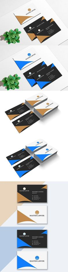 Intro: Business Card comes with a normal colored background and can be used for almost any kind of company or even personal use. Lawyer Business Card, Minimal Business Card, Modern Business Cards, Corporate Business, Professional Business Cards, Business Card Design, Psd Templates, Modern Logo, Logos