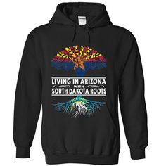 Living in Arizona with #South Dakota Roots, Order HERE ==> https://www.sunfrog.com/States/Living-in-Arizona-with-South-Dakota-Roots-jbzkllexix-Black-Hoodie.html?6789, Please tag & share with your friends who would love it , #christmasgifts #renegadelife #jeepsafari  #south dakota travel, rapid city south dakota, south dakota farm  #weddings #women #running #swimming #workouts #cooking #receipe