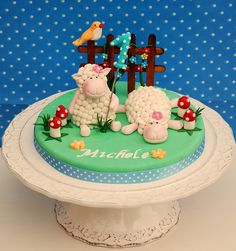 Sheep topper by Alessandra Cake Designer, via Flickr
