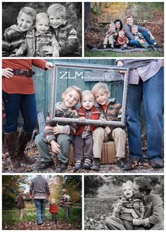 Family photos - the picture frame one is adorable!